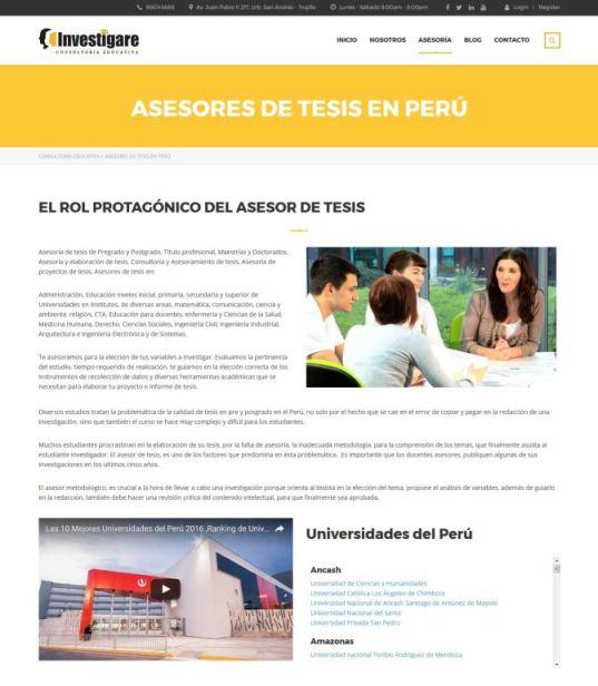 consultoría educativa asesores de tesis